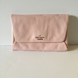 NWT Kate Spade Soft Leather Blush/Pink Clutch.